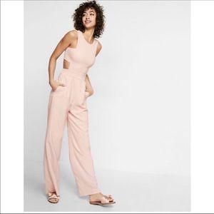 Pale pink Express Romper cut out jumpsuit